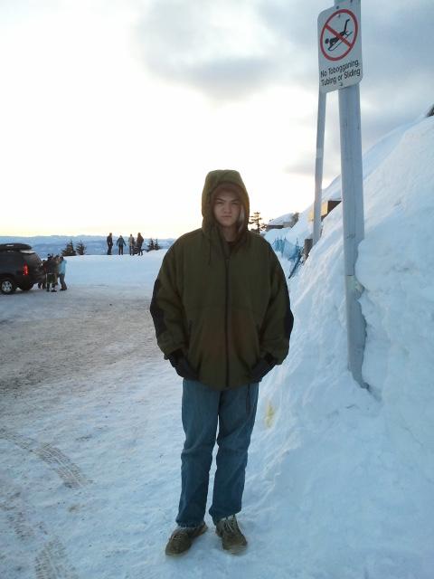 Mount Hood Dylan in snow
