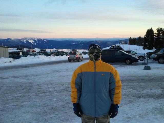 Mount Hood Ben in snow