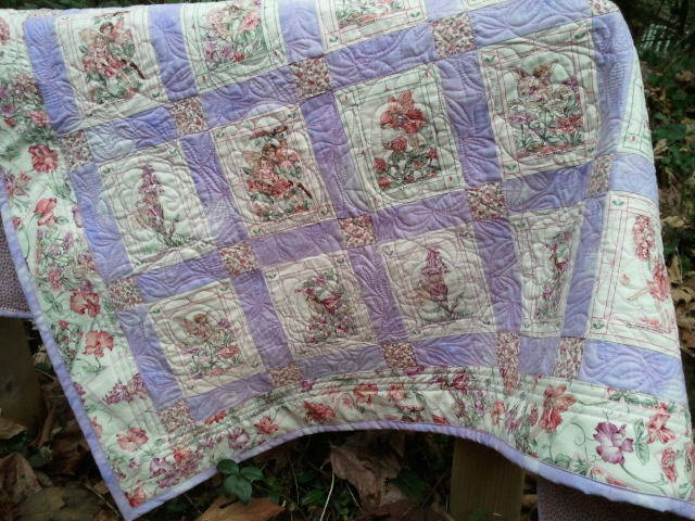 Flower Fairy Quilt on table