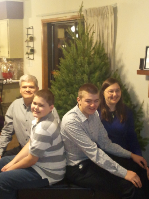 Vertical family photo Christmas 2012