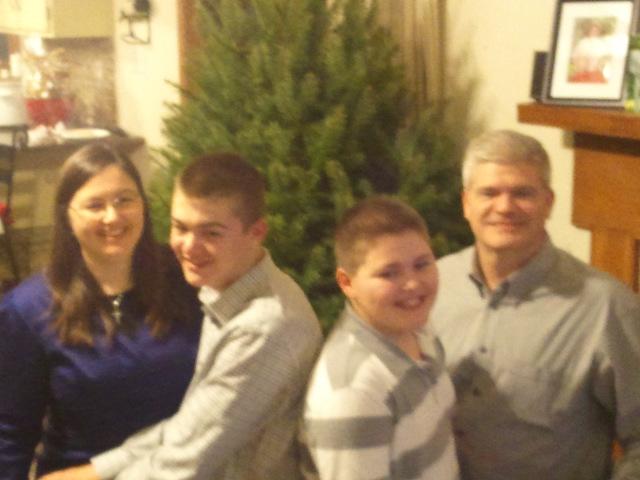 Horizontal Family Photo Christmas 2012