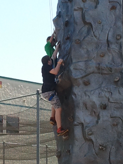 Ben rock climbing