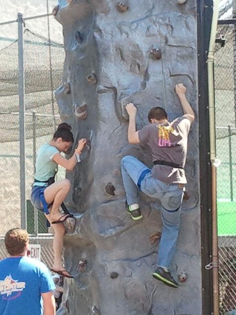 Dylan Rock climbing