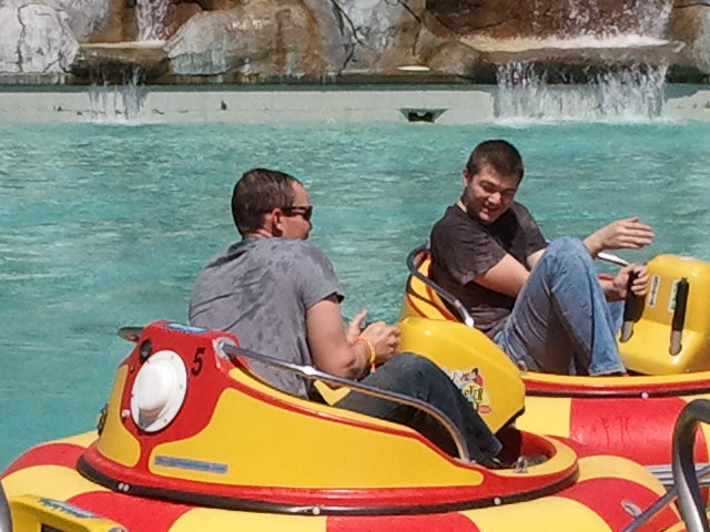 Dylan and Tad in lake