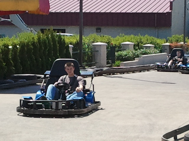 Dylan on go-cart