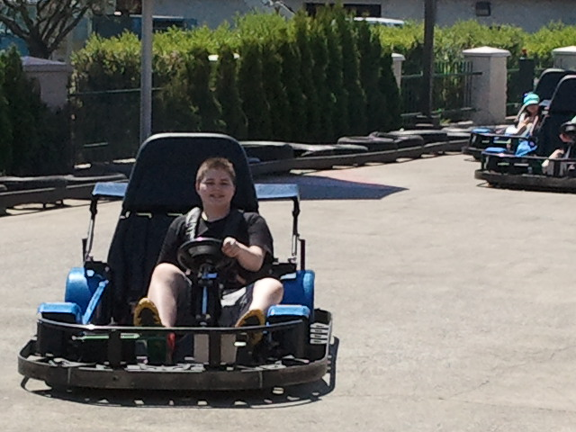 Ben on go-cart