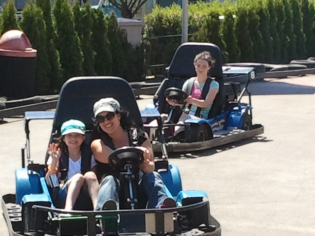the girls on go-carts