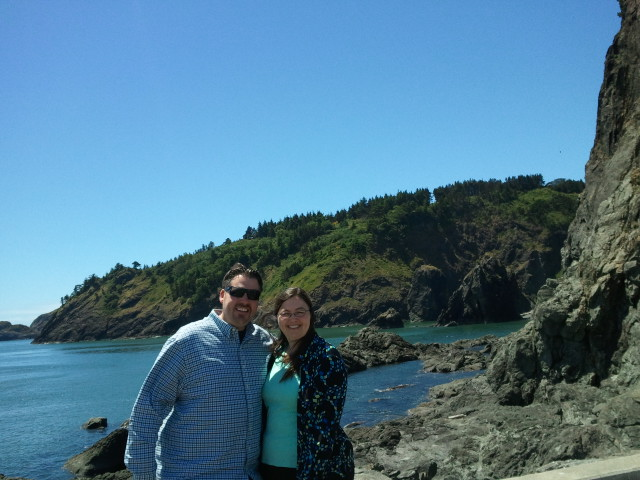 My brother and I at Port Orford