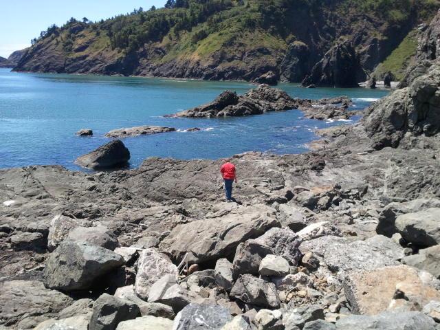Ben in rocks
