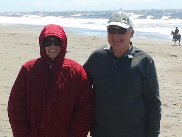 Grandma and Grandpa on the beach