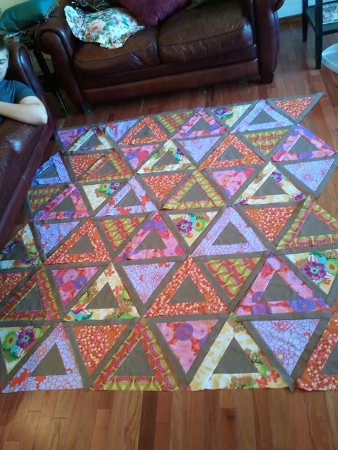 Kathryn chopsticks quilt in progress