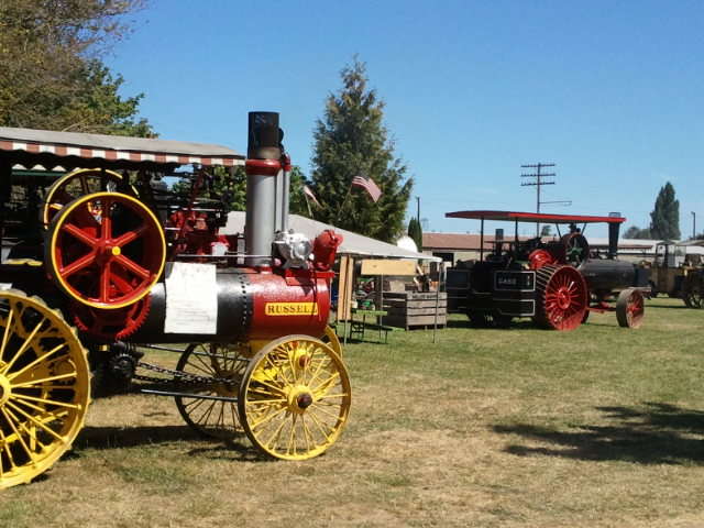 vehicles at great oregon steam up
