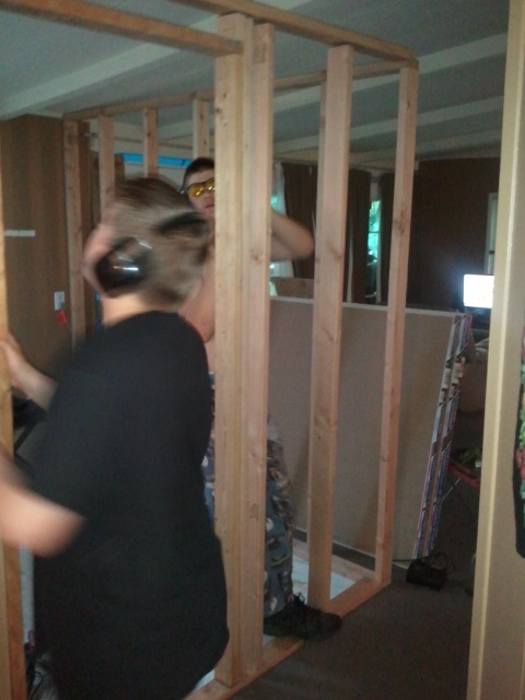 Framing dylan's room with ben