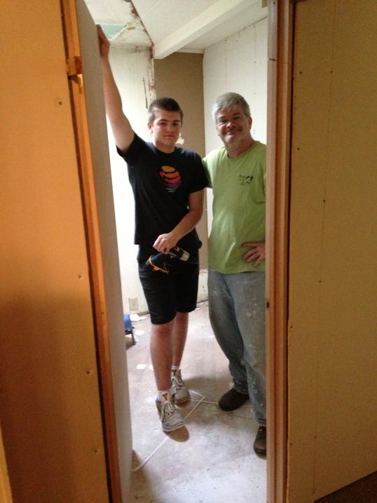 dylan and doug in new doorway