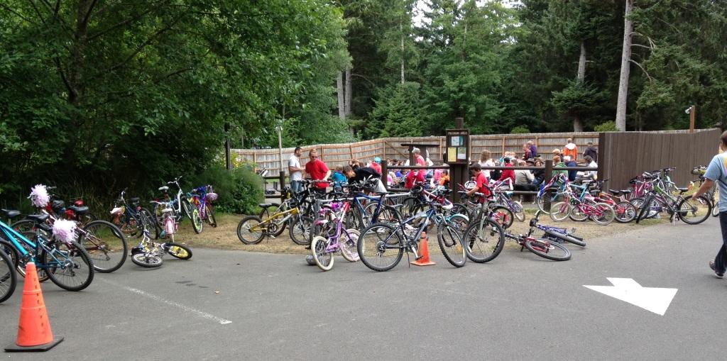 Bike at church service Ft Stevens