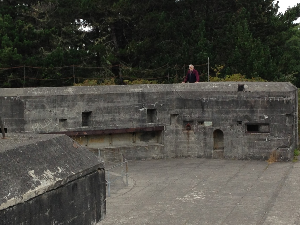 Doug standing at Battery russell