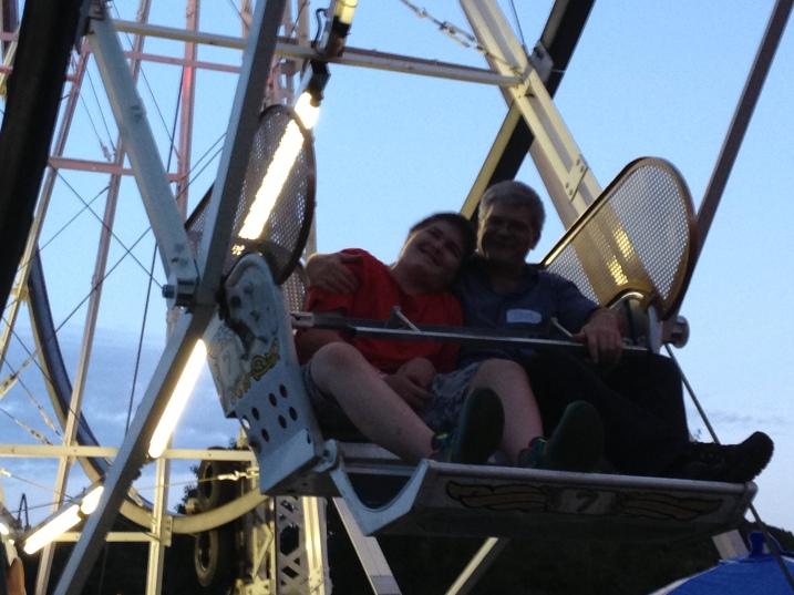 Ben and Doug on Ferris wheel