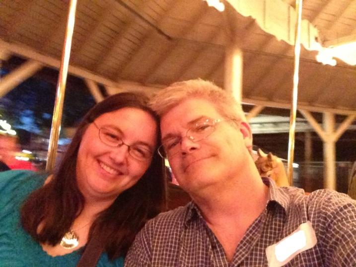 Doug n I on carousel