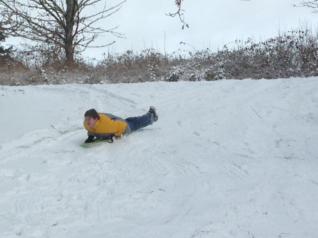 Ben sledding