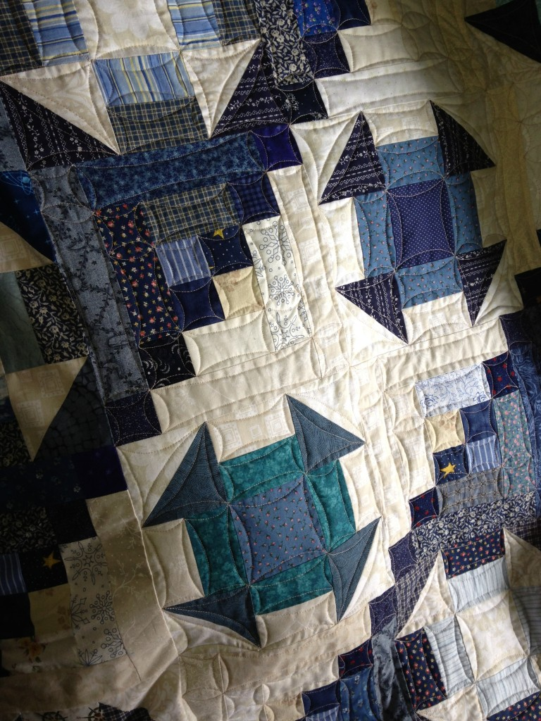 Free Motion Quilting of Quail's Nest