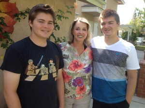 Grandma and the boys