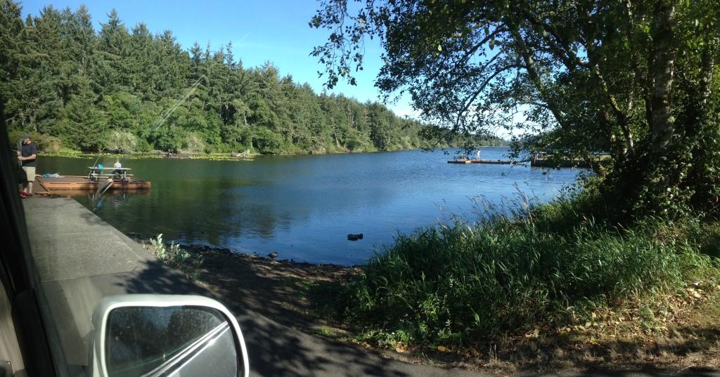 Lake at camping