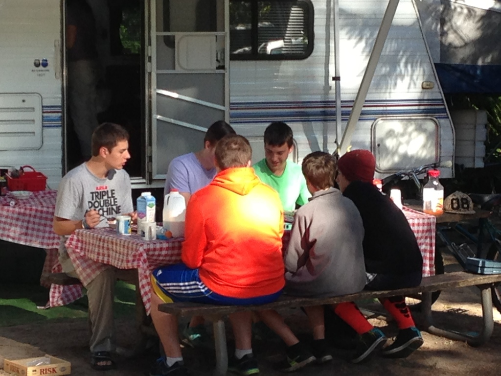 breakfast by the trailer