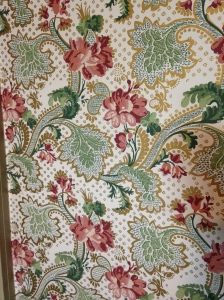 Pittock Mansion sewing room wallpaper