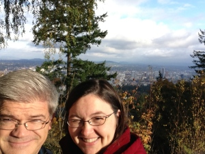 Pittock Mansion view with us