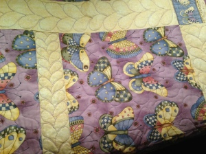 Butterfly donation quilt close up